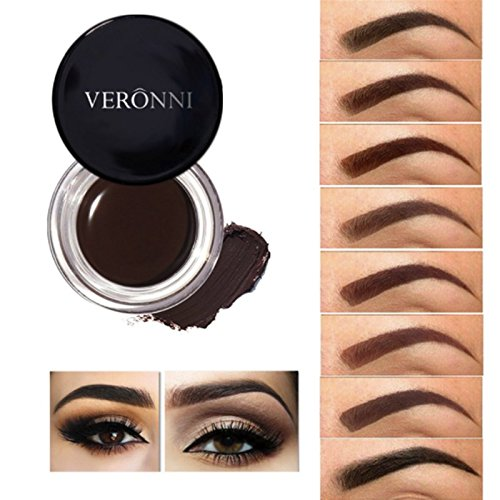 1 Color Veronni Pomade Eyebrow Color Cream / Eyebrow Cream Water-proof Smudge Free Eye Brow Makeup (2 Medium Brown) for sale