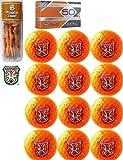 Caddyshack Czervik Golf Pack Special - 12 Bushwood Orange Colored Golf Balls & 6 Naked Lady Tees