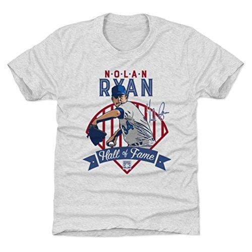 500 LEVEL Texas Baseball Youth Shirt - Kids Small (6-7Y) Tri Ash - Nolan Ryan Fame Tex B