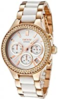 DKNY Ceramic Link Rose Gold-plated Ladies Watch NY8183 by DKNY