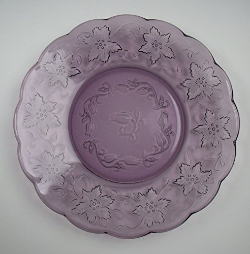 (Princess House Crystal FANTASIA-AMETHYST Luncheon Plate(s) EXCELLENT)