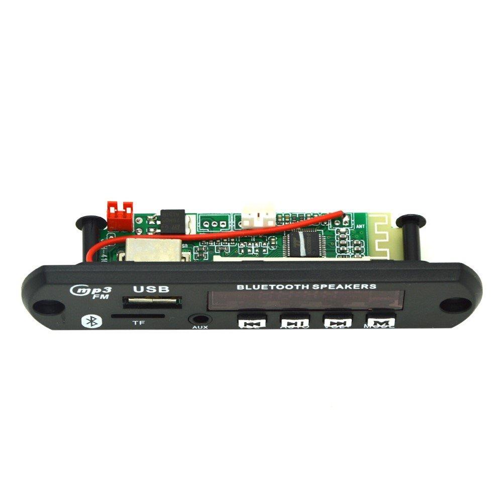 Hrph Bluetooth inal/ámbrico 12V MP3 WMA Decodificador Junta Audio M/ódulo TF USB Radio para el Coche