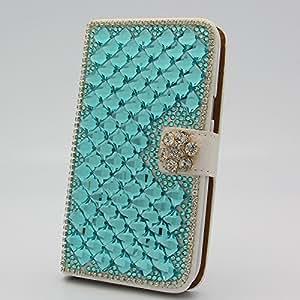 "Waveroar Fashion Rhombus Bling Rhinestones Folding Stand Flip Case Cover Skin Protector Card Holder for iPhone 6 4.7"""