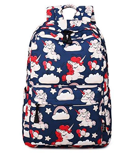 Kid Book Bag - Abshoo Cute Lightweight Unicorn Backpacks Elementary Girls Bookbags (Navy)