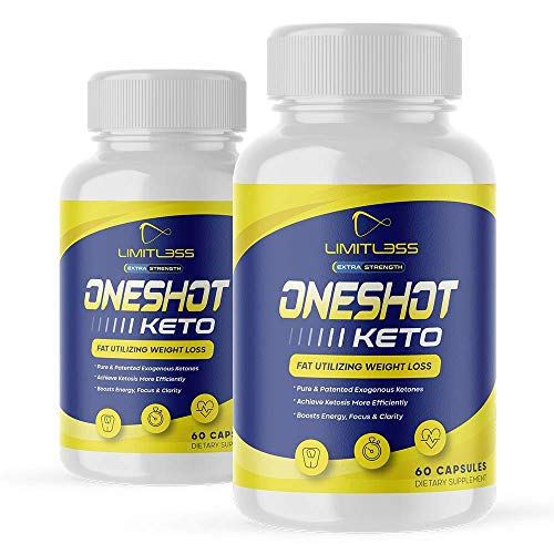 (2 Pack) One Shot Keto, For Men And Women, 60 Day Supply
