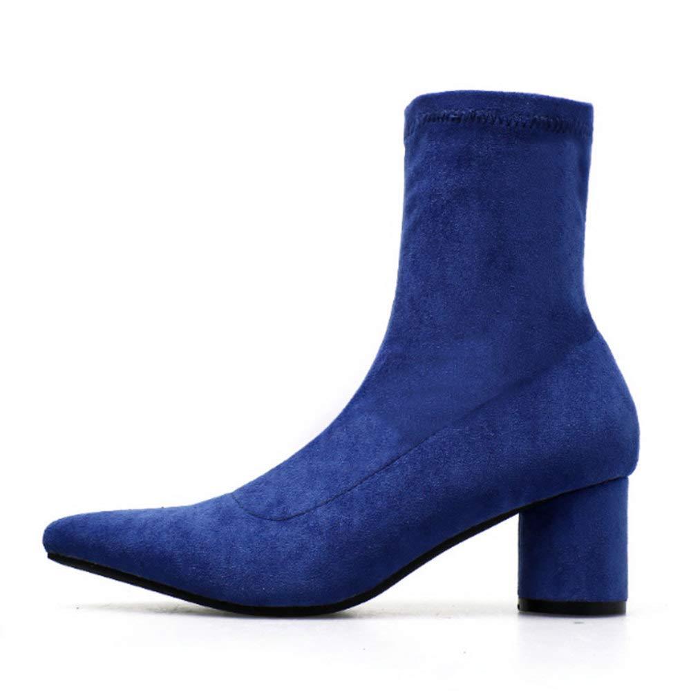 PLNXDM Spitz Martin Stiefel High Heel Stiefel Damen Stiefel Winter Chelsea Stiefel