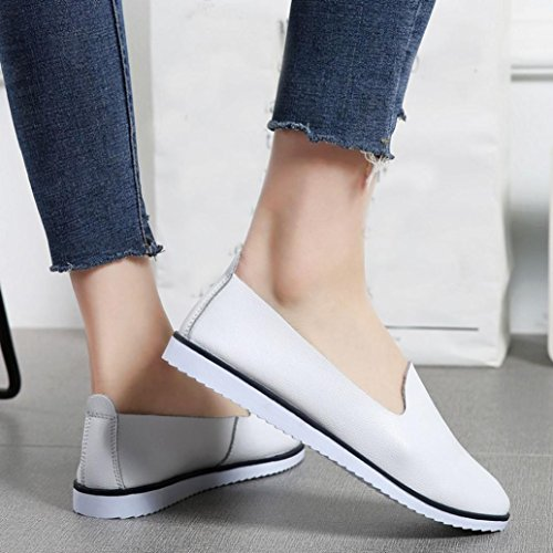 Neartime Promotion❤️Women Shoes, 2018 Fashion Flats Leather Shoes Shallow Slip On Leisure Lazy Comfortable Sandals by Neartime Sandals (Image #2)