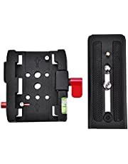 Clamp Base Plate,Aluminium Alloy P200 Quick Release QR Clamp Base Plate for Manfrotto 500 AH 701 503 HDV 577