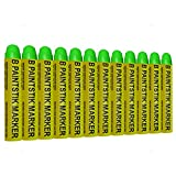12 Pc Box Green Markal B Paintstiks Crayon Marks Water Oil Dirt Extreme Temp Paint Stick Chalk for Auto Tire Construction Fabric Lumber