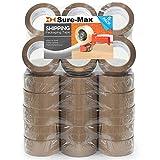 Sure-Max Premium Carton Packing Tape 2.0 mil 330 Feet (110 yards) - Brown/Tan - 1 Case (36 Rolls Total)