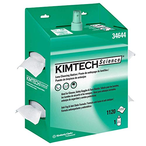 Kimtech 34644 KIMWIPES Lens Cleaning, 16oz Spray, 4 2/5 X 8 1/2, 1120 Wipes/Box (Case of 4)