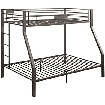 Amazon Com Acme Limbra Brown Twin Over Full Bunk Bed