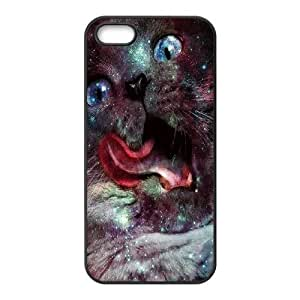 Cool Painting Galaxy Hipster Cat Brand New Cover Case for Iphone 5,5S,diy case cover case550991