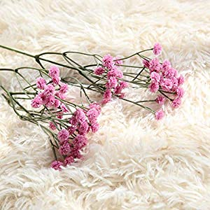 Fasclot Baby Breath Gypsophila Artificial Flowers, Babies Breath Flowers Bush Artificial Gypsophila Silk Silica Real Touch Blooms for Wedding Bridal Party Home Floral Arrangement Deco (Hot Pink) 4