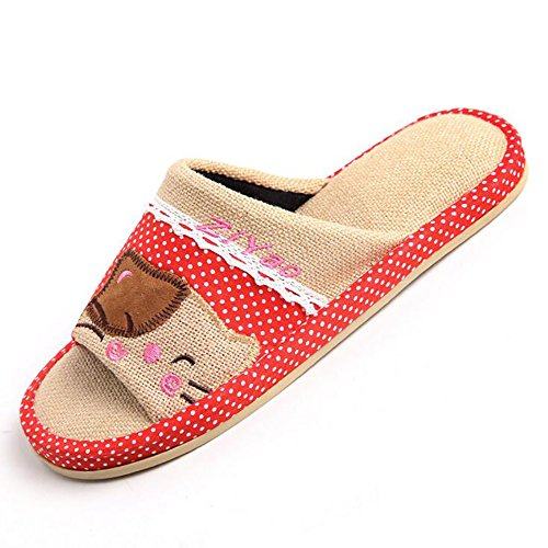 Flip Flops Indoor Autumn A Cotton 42 Slippers 41 Flax Comfortable Breathable Thick Bottom Household E vxzAqv8wH