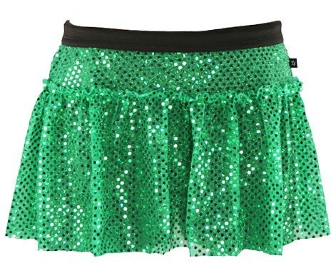 Green Sparkle Running Skirt L - Some Sparkle
