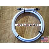 2' Ft White Digital HD Quality 75 Ohm RG-6 Tri-Shield Coaxial Cables Hand Crafted By JIM'S CABLE WORLD.