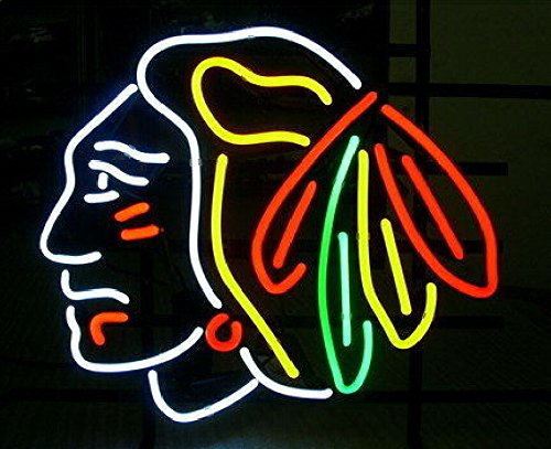 """Chicago Blackhawks Hockey Stanley CupLARGER Neon Sign20""""x16'' t4a(Ship from CA with FREE USPS Priority Mail or UPS)"""