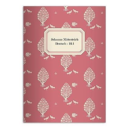 Kartenkaufrausch 4 sch/öne Retro DIN A5 Schulhefte blau Lineatur 6 Schreibhefte mit Central Park Motiv blanko Heft