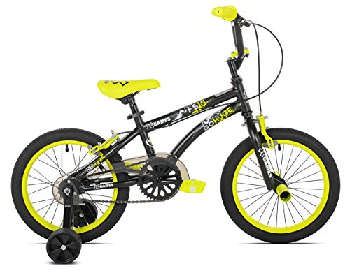 X Games FS 16 BMX/Freestyle Bicycle, 16 Inch, Black/Yellow