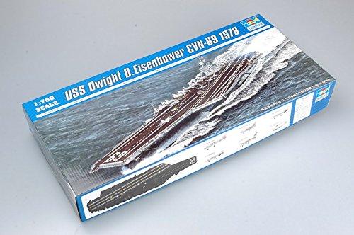 Trumpeter 1/700 USS Dwight D. Eisenhower CVN69 Aircraft Carrier 1978 Model Kit