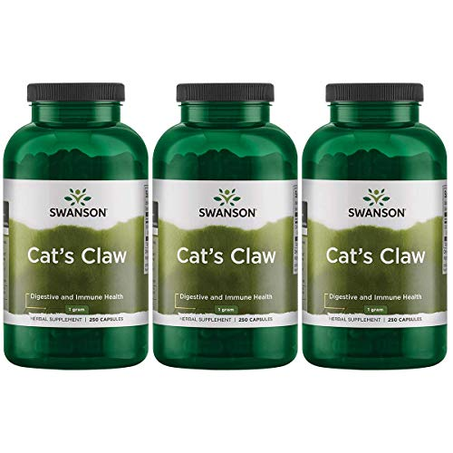 Swanson Cat s Claw 500 Milligrams 250 Capsules 3 Pack