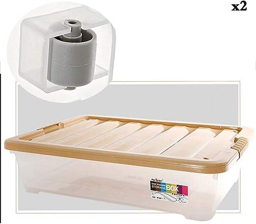 Caja de almacenamiento debajo de la cama KEKET1 de plástico con ...
