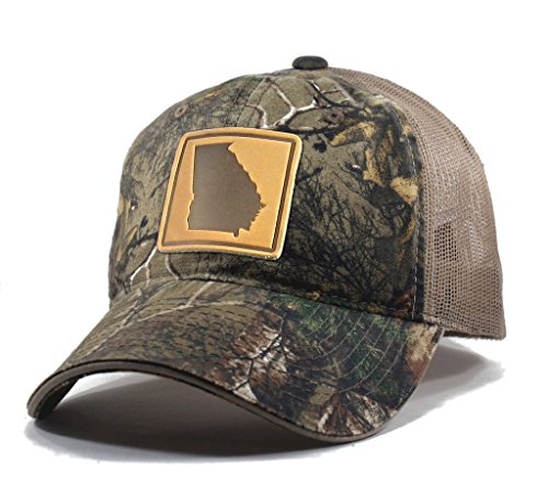 - Homeland Tees Men's Georgia Leather Patch Camo Trucker Hat - Realtree