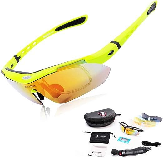 Modenny Gafas polarizadas para Ciclismo Bicicleta para Correr MTB Bicicleta de Carretera Gafas de Pesca Gafas de Sol para Ciclismo al Aire Libre, 5 Lentes (Color : Green): Amazon.es: Hogar