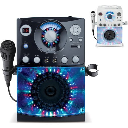 (Singing Machine SML385 CDG Karaoke System with Disco Lights/Black / Includes RCA-type A/V cables (for TV connection))