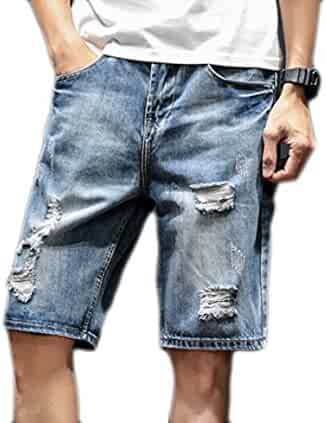 d31f90621fa9 BSTBUWIN Men Stretchy Comfort Plus Size Loose Fit Leisure Jean Shorts