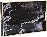 Zosenley Decorative Tray, Marbling Plastic Tray