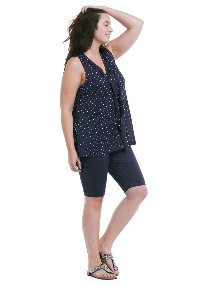 Ellos Women's Plus Size Stretch Twill Bike Shorts