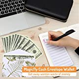 Magicfly Cash Envelope Wallet, All-in-One Budget