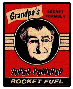 Nostalgia Decals Grandpas Rocket Fuel Decal 5