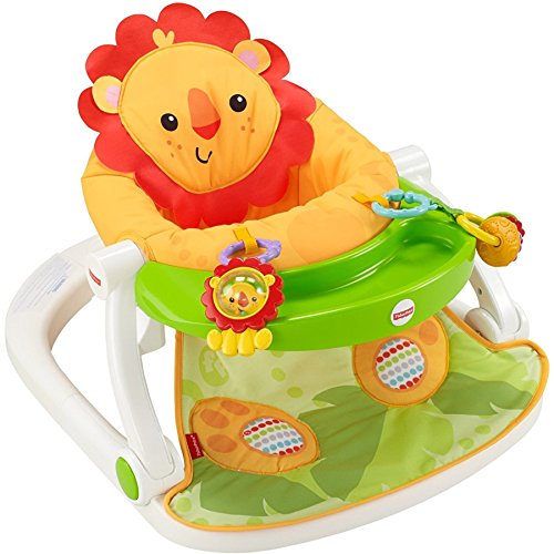 Fisher-Price Sit-Me-Up Floor Seat with Toy Tray, Lion