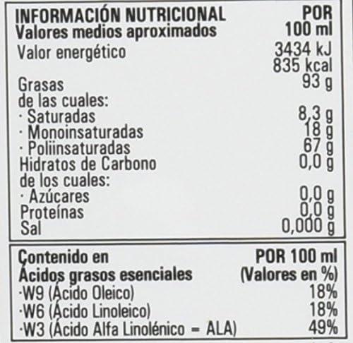Hijas Del Sol Bio Aceite de Semillas de Lino Ecológico Bio ...