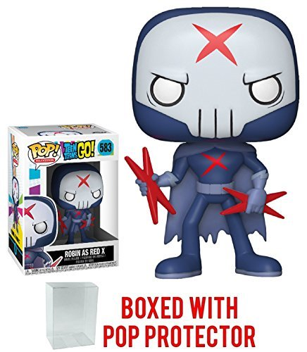 Funko Pop! TV: Teen Titans Go! - Robin As Red X Vinyl Figure (Bundled with Pop BOX PROTECTOR CASE) (Red X Teen Titans)