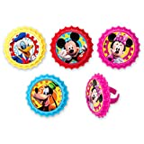 DecoPac Mickey Mouse Club House You Betcha! Cupcake Rings (12 Count)