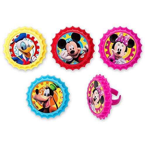 DecoPac Mickey Mouse Club House You Betcha! Cupcake Rings (12 Count) -