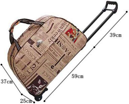 Minmin-lgx Luggage Rolling Duffle Trolley Bag Travel Bag Tote Carry-On Upgraded Version Color : A