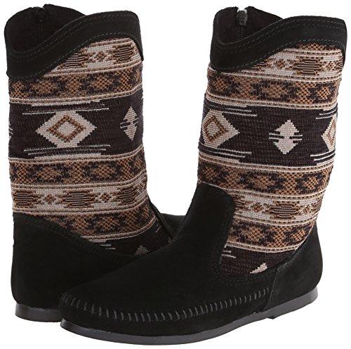 Mocasin Botas Para Minnetonka Boot Negro Baja Mujer 1qAxxw6Rf