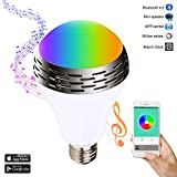 Miric Smart Bulb Music Color Bulb Changing LED Light Bulbs E27 with Bluetooth 4.0 Speaker,RGBW Multicolor,Music Audio,Time on/off,the Free Unique Smartphone APP for Home and Stage