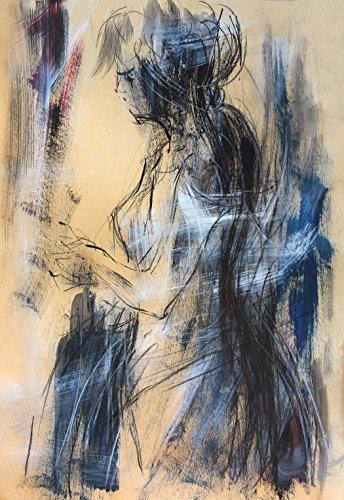 Woman Original art sketch Abstract Modern wall art Charcoal Artistic drawing Figurative art by IvMarART