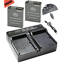 BM Premium 2-Pack of EN-EL12 Batteries & Dual Battery Charger Kit for Nikon Coolpix A900, AW100, AW110, AW120, AW130, S31, S800C, S6100, S6200, S6300, S8100, S8200, S9050, S9100, S9200, S9300, S9400, S9500, S9700, S9900, P300, P310, P330, P340, S1100PJ, S1200PJ Digital Camera + More!!!