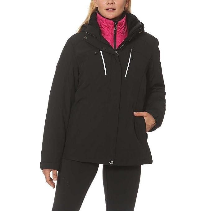 Amazon.com: Gerry Ladies sistemas de 3-in-1 chaqueta negro ...