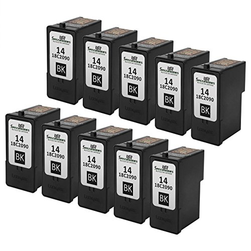 Speedy Inks - 10PK Remanufactured Lexmark #14 / 18C2090 B...