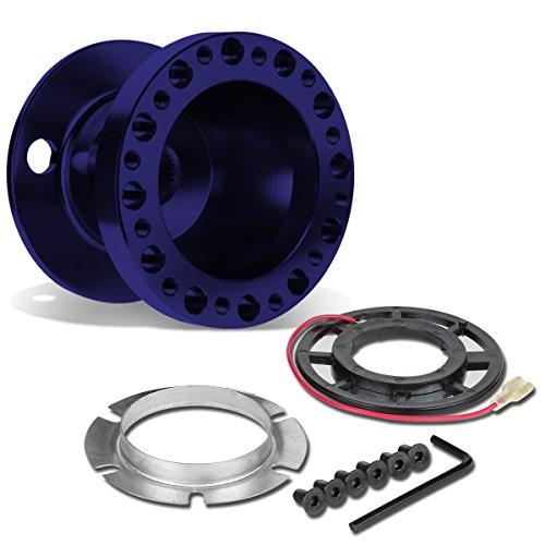 (DNA Motoring HUB-ALU-OR18-BL 6-Hole Steering Wheel Hub Adaptor)