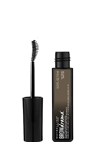 0ce65ced20d Amazon.com : Maybelline Brow Drama Sculpting Eyebrow Mascara, Soft Brown,  0.23 fl. oz. : Beauty