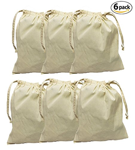 396fac062f8 Earthwise Organic Cotton Muslin Produce Bags with Drawstring for ...